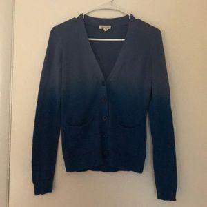 Silence + Noise Ombré Cardigan Sweater Size S